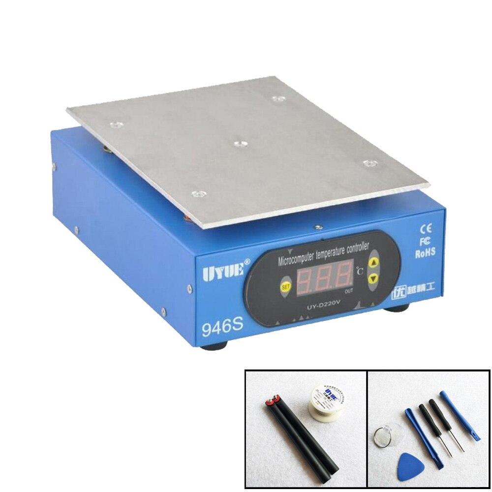 Préchauffer Statione + accessoires 9.6 pouces 220 V/110 V préchauffeur Plate-forme numérique plaque chauffante pour téléphone LCD écran séparateur 946 S