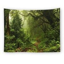Лес стены гобелен дерево Пейзаж МАНДАЛА ГОБЕЛЕН сценический занавес настенный гобелен, настенные картины декор пляж коврик скатерть