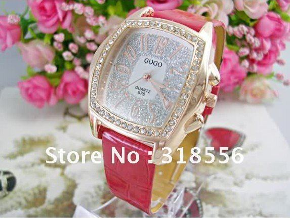 New Fashion Diamond Watch,Luxury Woman Watches,Luxury Crystal Inlay Wrist Watch With Nice PU Leather Strap Gift Free Shipping
