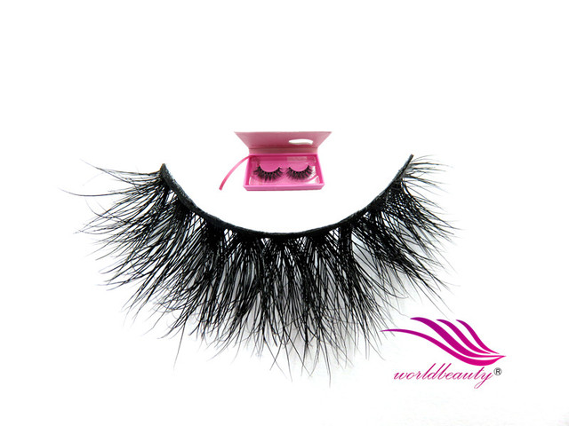 Free shipping  New style 100% 3D Real Siberian mink fur D008 lilly nature soft false strip lashes 1 Pair/lot