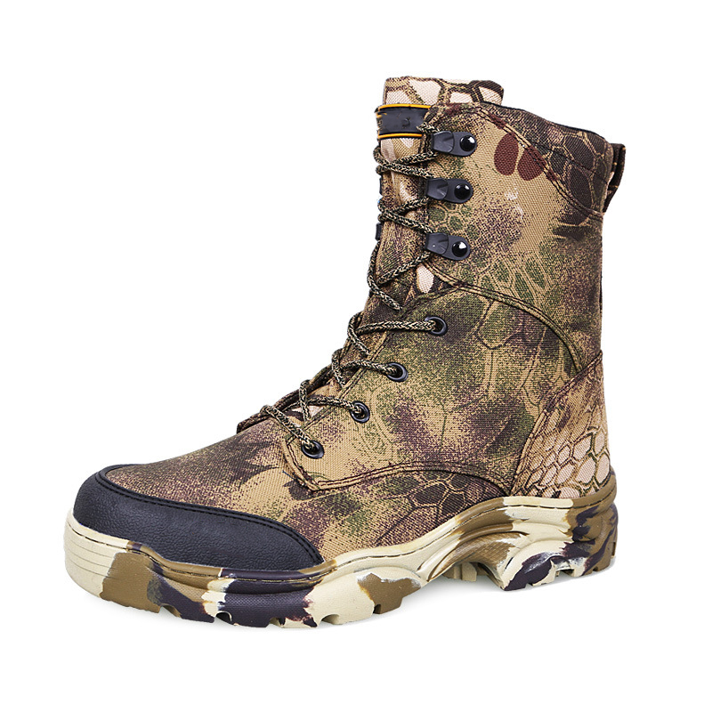 Men Camouflage Mountain High Top Military Tactical Boots Non-Slip Outdoor Travel Shoes Hiking Trekking Climbing Desert Sneakers military camouflage boots desert tactical hiking shoes non slip breathable boots outdoor climbing camping sneakers