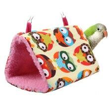 Fashion Plush Bird Hanging Cave Cage Snuggle Hut Tent Bed Birds Winter Warm Nest Bird Parrot Conure Bunk Toy Parrot Hammock