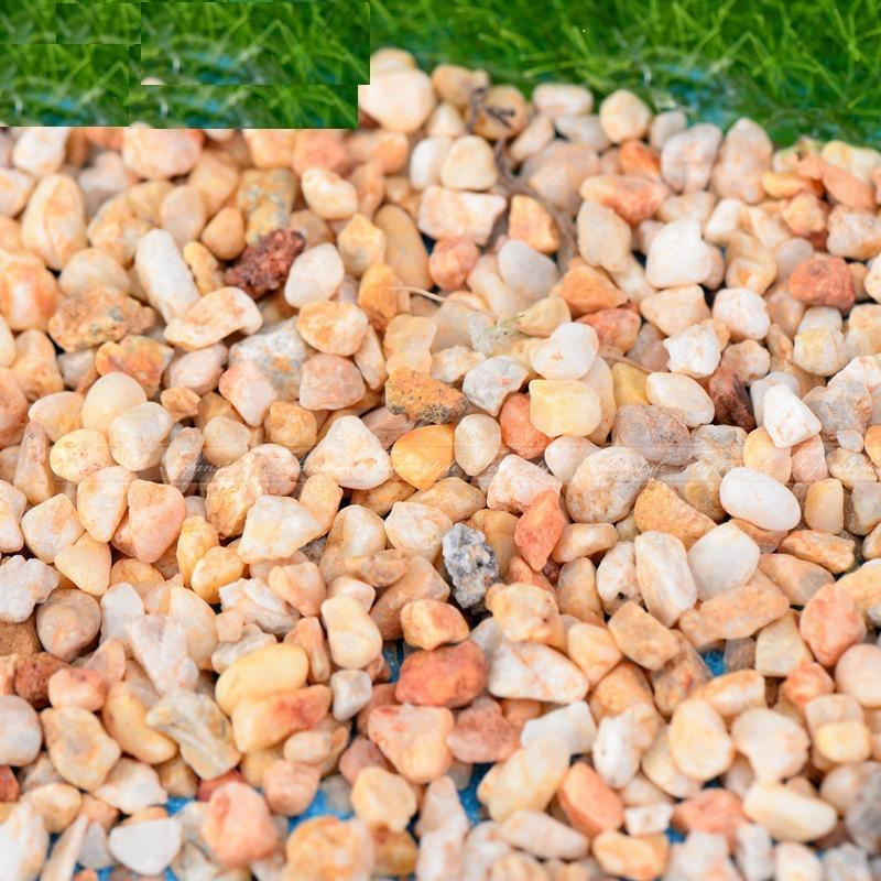 100g Natural river sand stone rocks miniatures for decorations accessories home F263