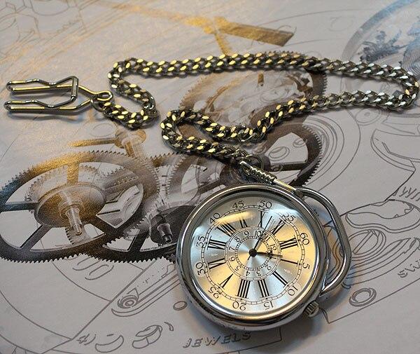 Vintage Mens/Ladies Sliver Case Elegant  Quartz Pocket Watch Freeship