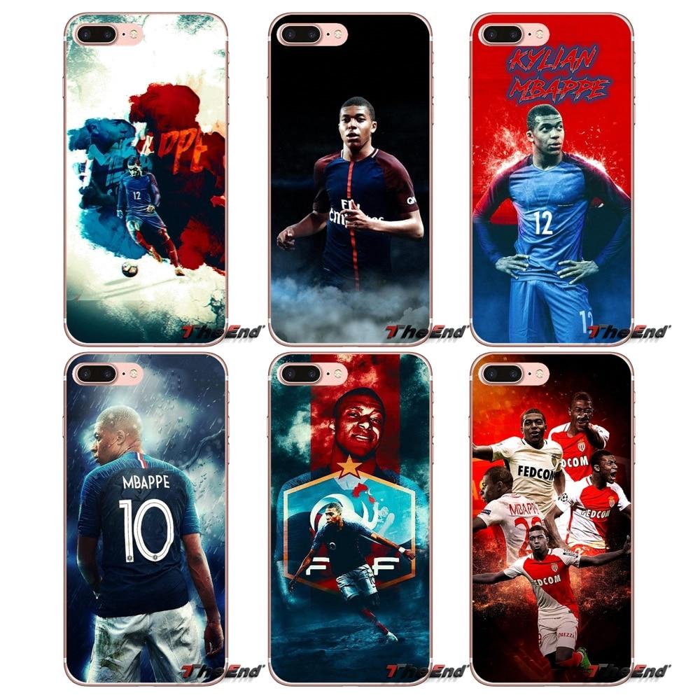 Pour Samsung Galaxy J1 J2 J3 J5 J7 A3 A5 A7 2015 2016 2017 J330 J530 J730 France Football Étoiles kylian Mbappe Étui En Silicone Couvre