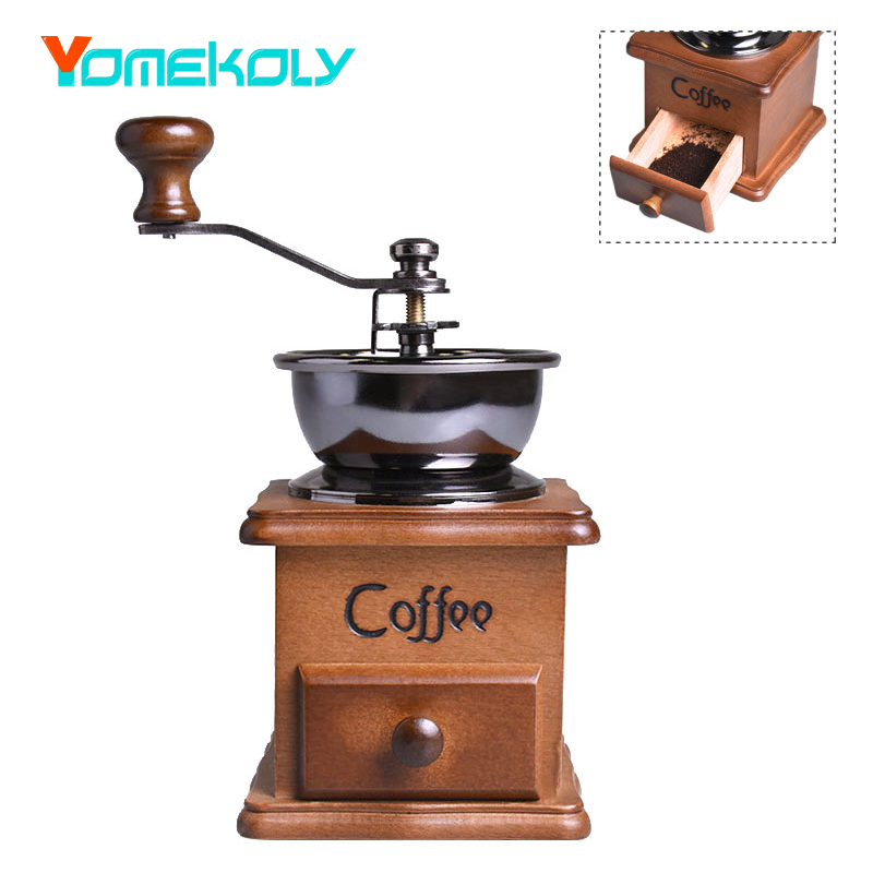 Mini Coffee Grinder Manual Stainless Steel Retro Coffee Spice Mill With Porcelain Movement Classic Wood Hand Coffee Bean Grinder женские сапоги ecco 351123 14 11001 01220