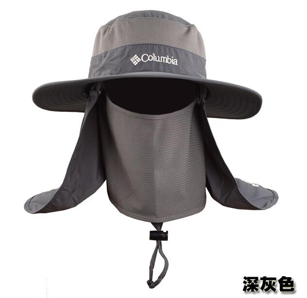 Outdoor Summer Men Fishing Sun Hat Climbing UV Protection Bucket Hat ... 1946e8154ff