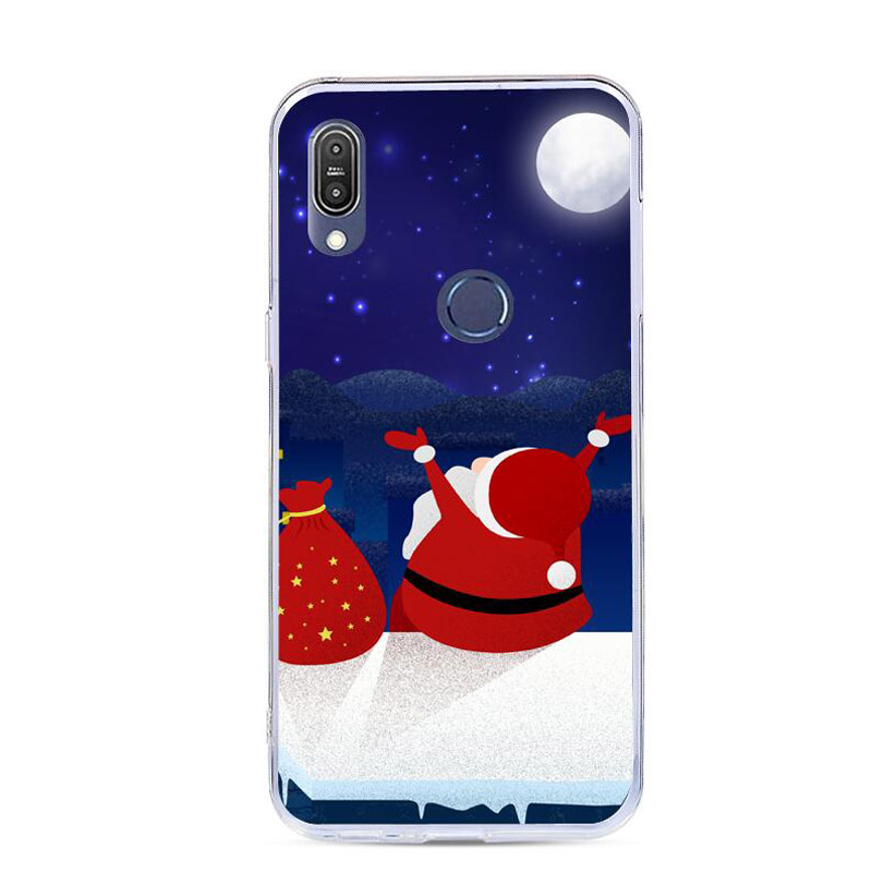 For Huawei Honor 8X Case Cute Cartoon Christmas Santa Claus Elk Soft TPU  Back Cover Case For Honor 8X Max Honor8x Phone Cases