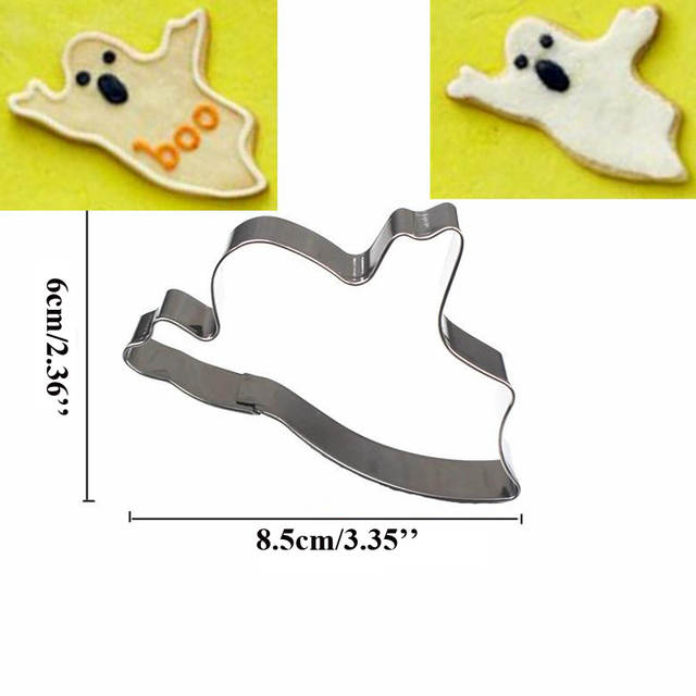 US $7 99 |3pcs Ghost Tombstone Cross Halloween 3D Cutter Molds Metal  Fondant Mold Biscuit Gum Cake Decoration Tools moule a gateau metal-in  Cookie