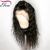 Естественная волна шелк база парики Elva Синтетические волосы на кружеве натуральные волосы парики предварительно сорвал бразильский Волос