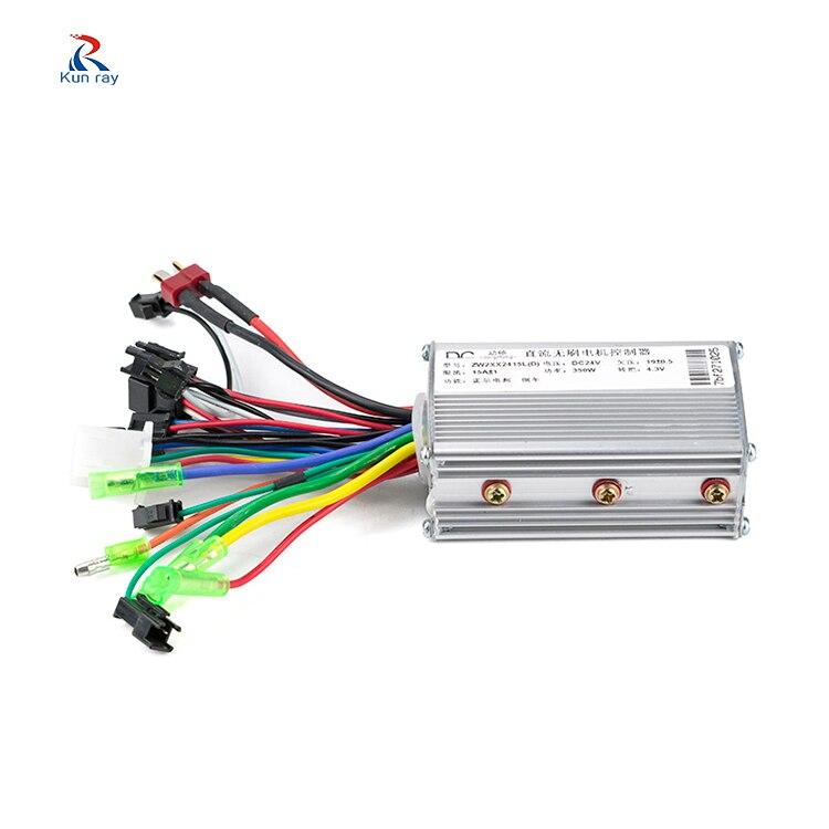 Elektrische bike controller 250 watt 350 watt 24 v 36 v 48 v Dual fahrrad motor controller e bike roller dreirad bürstenlosen bldc controller