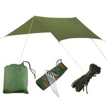 3mx3m Beach Waterproof Anti-UV Tent Outdoor Camping Climbing Survival Tarp Tent  Hammock rain screen Parasol Cover