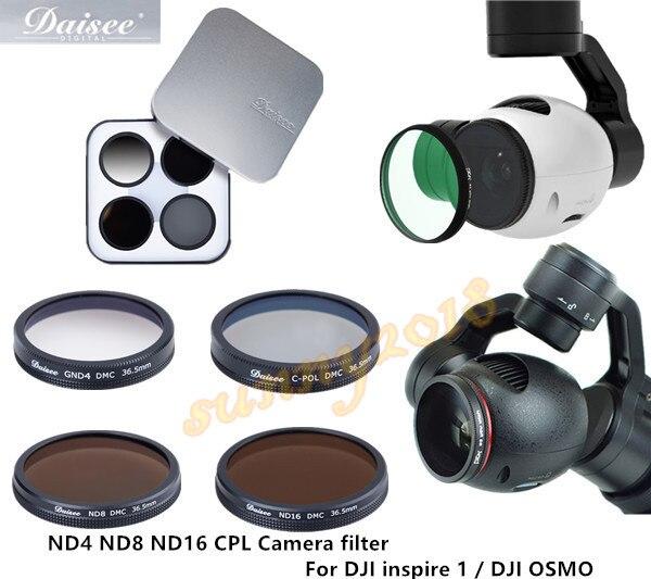 Kamera filtr CPL/ND4/ND8/ND16 filtr FPV akcesoria do aparatu DJI inspire 1 x3/DJI OSMO w Filtry do dronów od Elektronika użytkowa na AliExpress - 11.11_Double 11Singles' Day 1