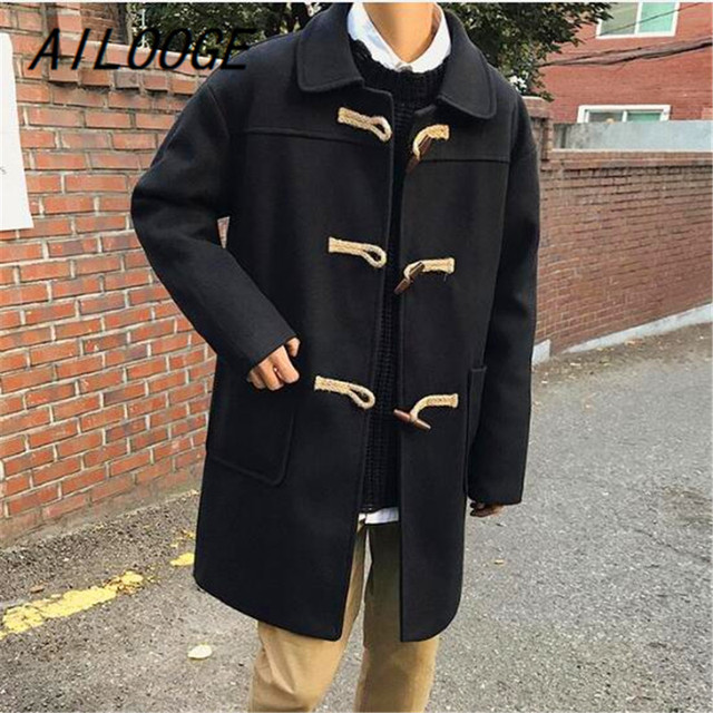 AILOOGE Slim Men Overcoat...