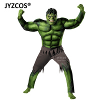 JYZCOS Kids Hulk Costume Halloween Carnival Party Fancy Dress Boy Children Avengers Hulk Muscle Cosplay Clothing