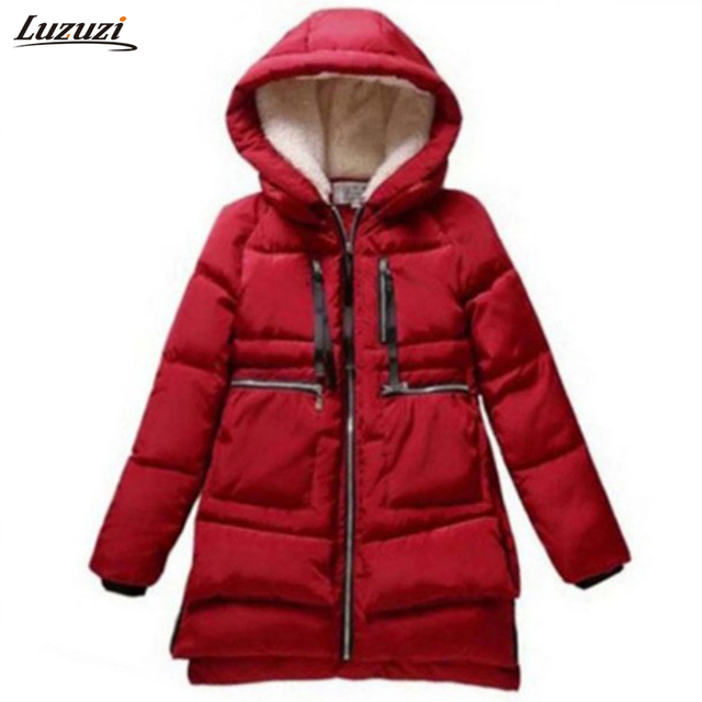 1PC Winter Jacket Women Military Coats Plus Size Thickening Cotton Hooded Parkas For Women Winter Coat Chaquetas Mujer Z008