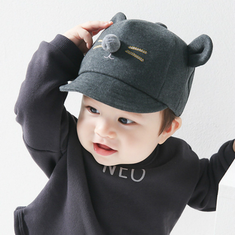 Sporting Newborn Toddler Kids Baby Girls Boys Fashion Visor Lovely Baseball Cat Little Ear Cap Warm Hat X2 Hats & Caps