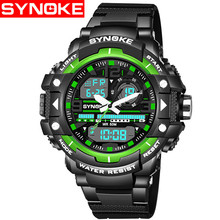 SYNOKE Outdoor Casual Men Wristwatches Quartz Digital Man Military Watch kol saati Waterproof Sports Watches relogio masculino
