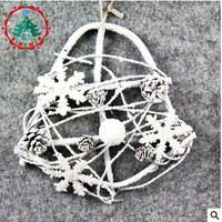 2018 Fashion Heart Xmas Pendant & Drop Ornaments White Christmas Decoration For Home Rattan Deco For New Year