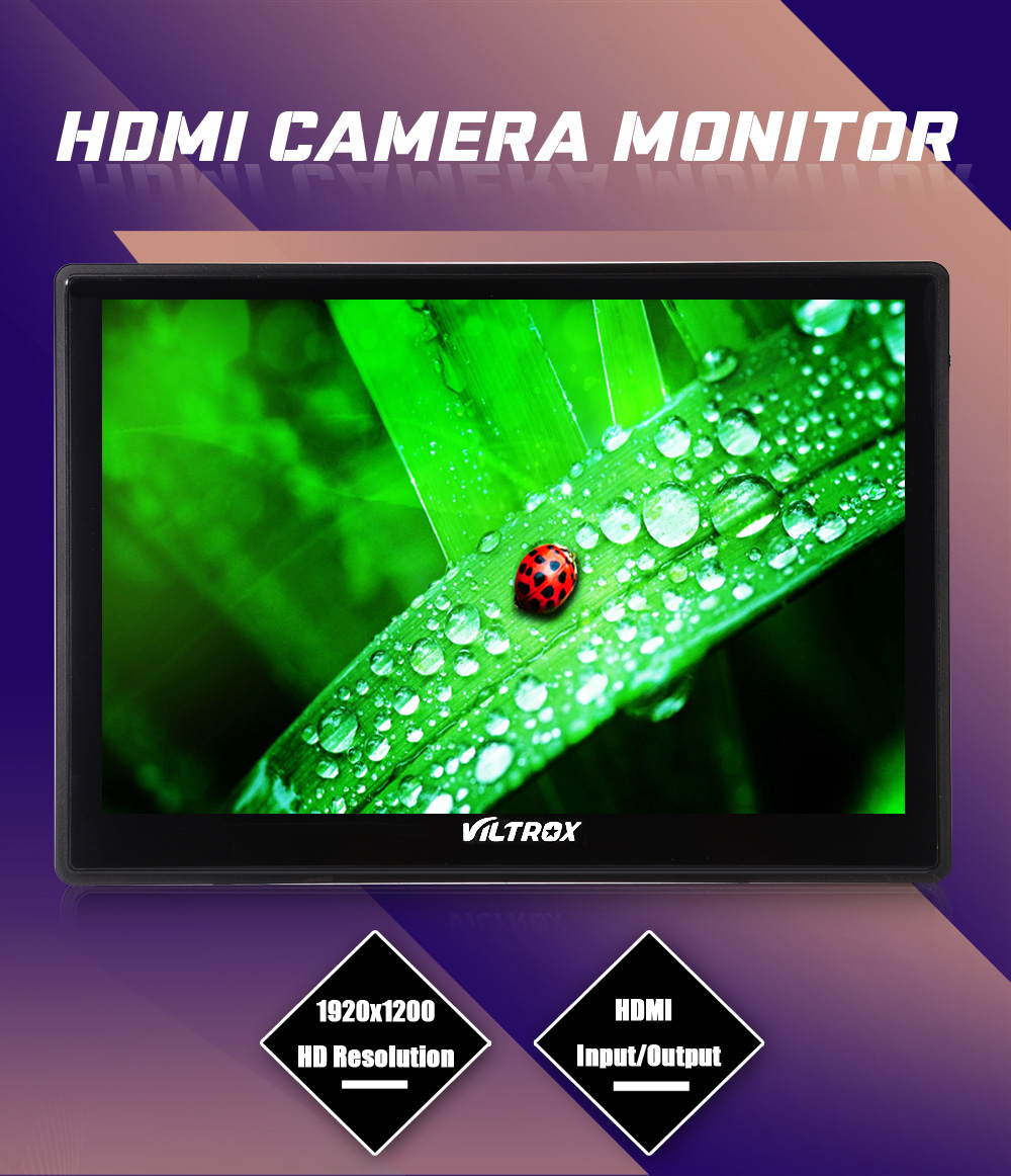 VILTROX DC-90HD Professional DSLR Camera Image Monitor 8.9 inch Screen 1920 x 1200 HDMI Input Output for Canon Nikon Sony