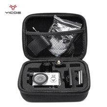 GoPro อุปกรณ์เสริมขนาดเล็ก EVA กระเป๋าเก็บกล่องสำหรับ GoPro Hero7/6/5/4/3 + SJCAM SJ4000 XIAOMI YI 4K Action กล้อง