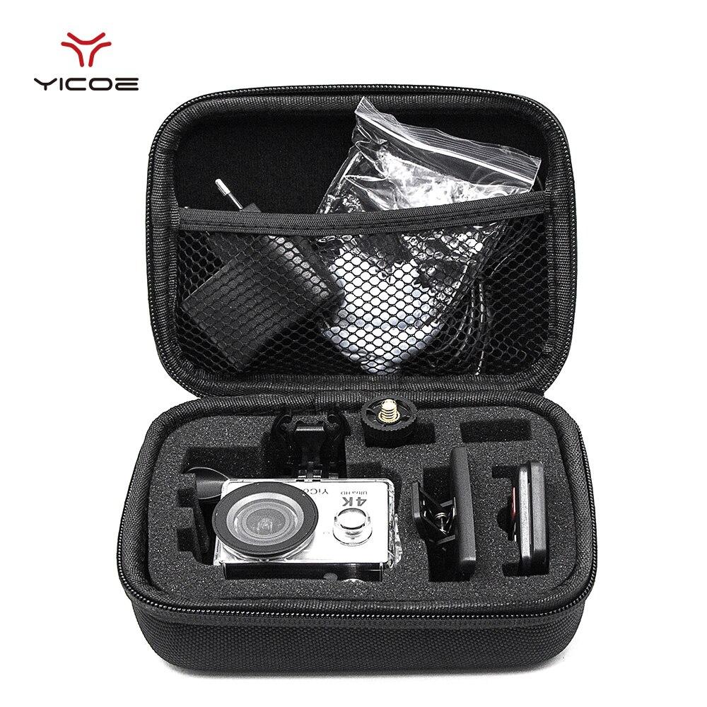 Gopro Accessories Small Size EVA Collecting Case Bag Storage Box ForGopro Hero7/6/5/4/3+ SJCAM SJ4000  XIOMI YI 4K Action Camera