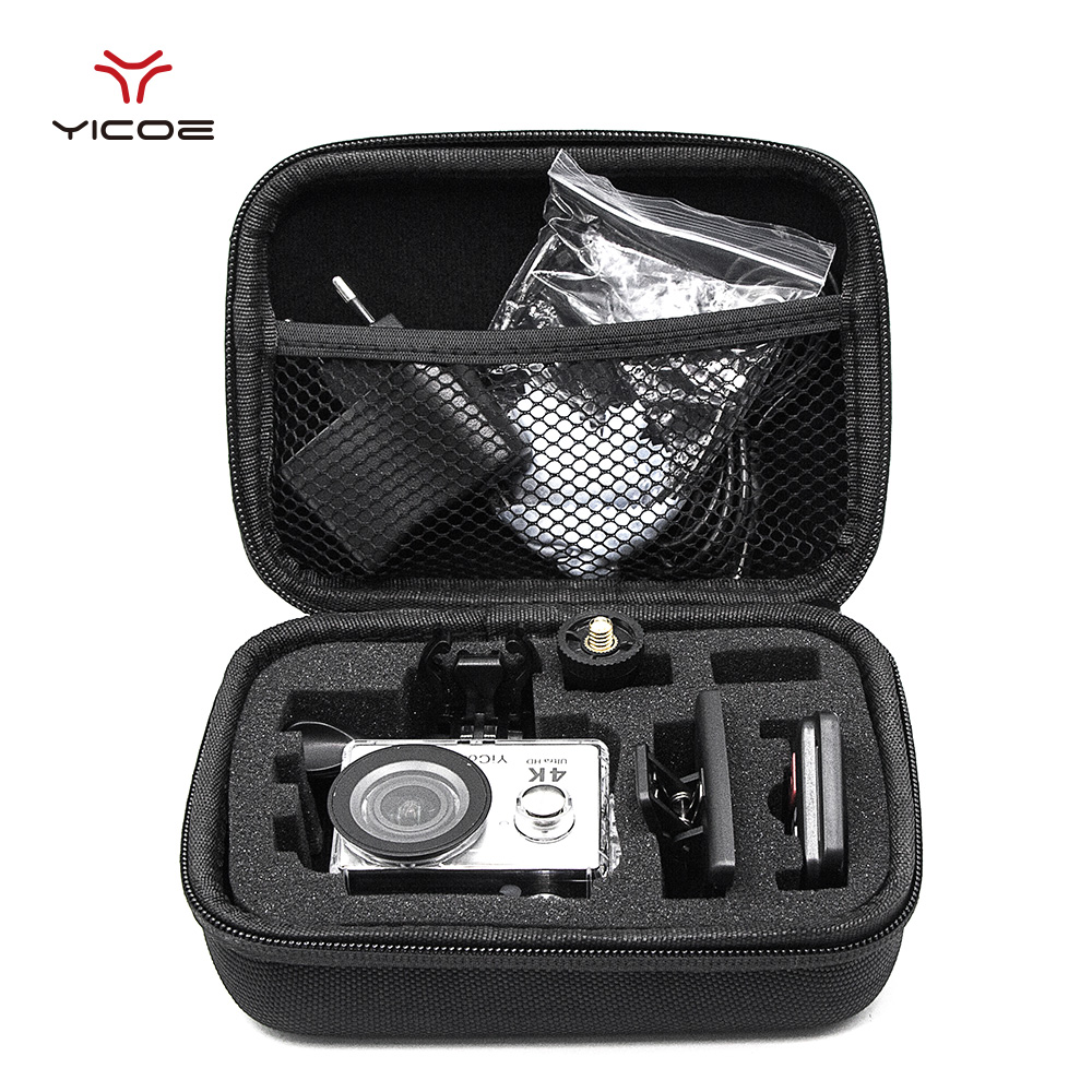 цена на Small size EVA Collecting Case Bag Storage Box for Go pro Gopro Hero 6/5/4/3+ SJCAM SJ4000 SJ5000 XIAOMI YI 4K Action Camera
