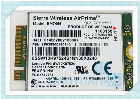4G LTE WWAN for Sierra Wireless Airprime EM7455 QUALCOMM FRU S1NN For Lenovo X270 T470 T470S