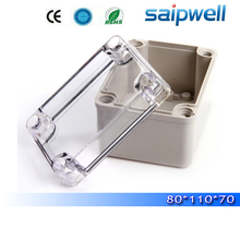 2015 best hot sale ip65 plastic waterproof electrical junction box with transparent cover 80*110*70mm High quality DS-AT-0811
