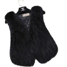 FTLZZ Genuine Raccoon Fur Vest Women Short Design Natural Fur