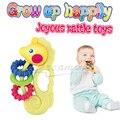Новые детские игрушки 0-12 месяцев Пластиковые Детские Погремушки Мультфильм гиппокамп развивающие игрушки для детей новорожденных прорезыватели для зубов ребенка рука погремушки