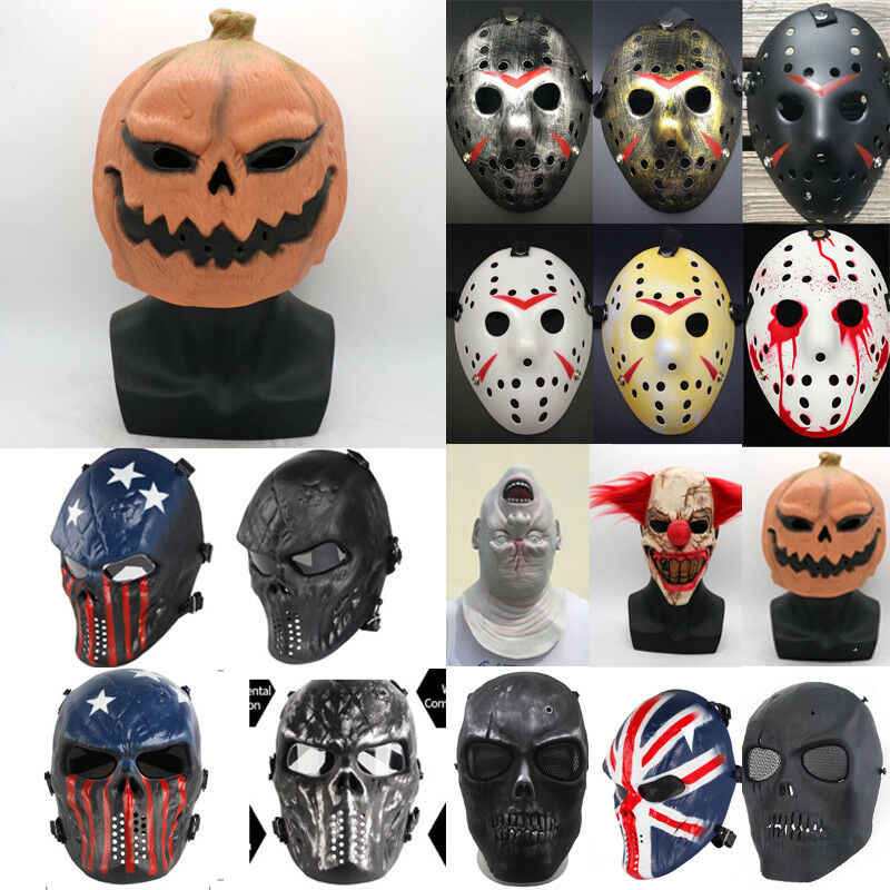 Bergaya Jason Voorhees Friday The 13th Horor Topeng Hoki Menakutkan Halloween Mask