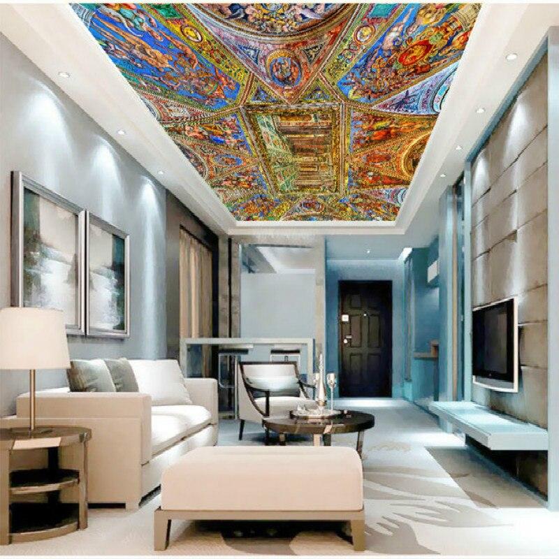 US $13.25 47% di SCONTO|Angeli Chiesa collage grande murale 3D carta da  parati per camera da letto fondale soggiorno pittura tridimensionale carta  da ...