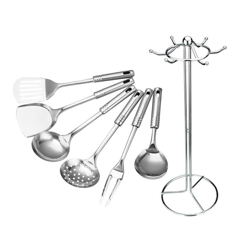 7 шт. Кухня набор инструментов Нержавеющаясталь Пособия по кулинарии посуда набор ложка Посуда Кухня Инструменты высококлассные Кухонные принадлежности