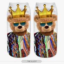 2015 Harajuku Style Autumn and Winter 3D Funny Print Comfortable Cotton Short Ankle Socks Unisex Wholesale