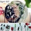Медицинские Статьи Цветочным Узором Nail Art Шаблона Штемпеля Плиты Изображения Шаблон # Qgirl-037
