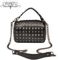 Fashion Rivet Leather Bag Women Messenger Bags Female Crossbody Bags Clutch Purse And Handbag Bolsa Ffeminina