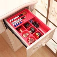 New 2 Layers Plastic Drawer Organizer 8 Space Spice Makeup Organizador Desk Cosmetic Organizer Sundries Storage