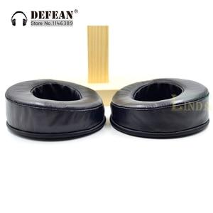 Image 1 - Angle Genuine Leather cushion ear pads foam ear pads cover for Hifiman HE Series Headphones headset