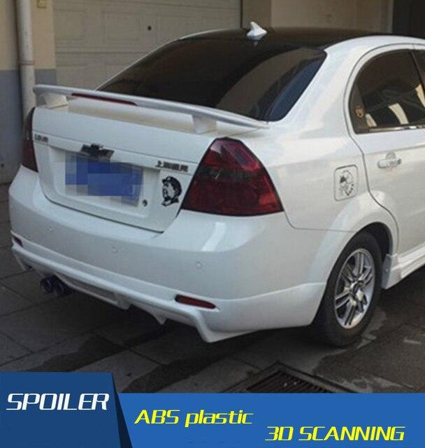 For Chevrolet Lova Spoiler The Abs Material Car Rear Wing Primer