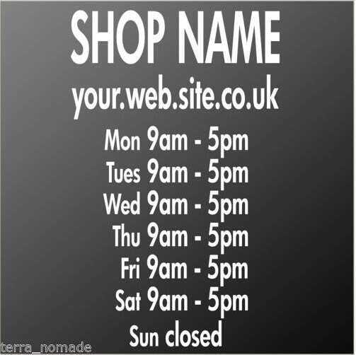 Aliexpresscom Buy Window Sticker Opening Hours Times Shop Sign - Custom vinyl window stickers uk