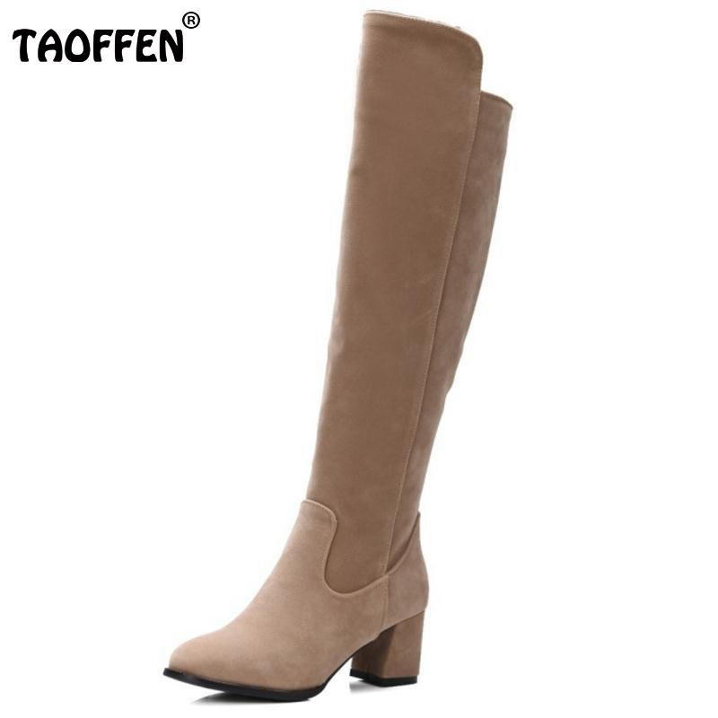South Korean Style Autumn Over Knee High Boots Round Toe Side Zipper Warm Riding Women Botas Ladies Shoes Footwear Size 30-48 free shipping south korean style winter new nubuck fashion high heels round toe side zipper lace up riding boots women boots