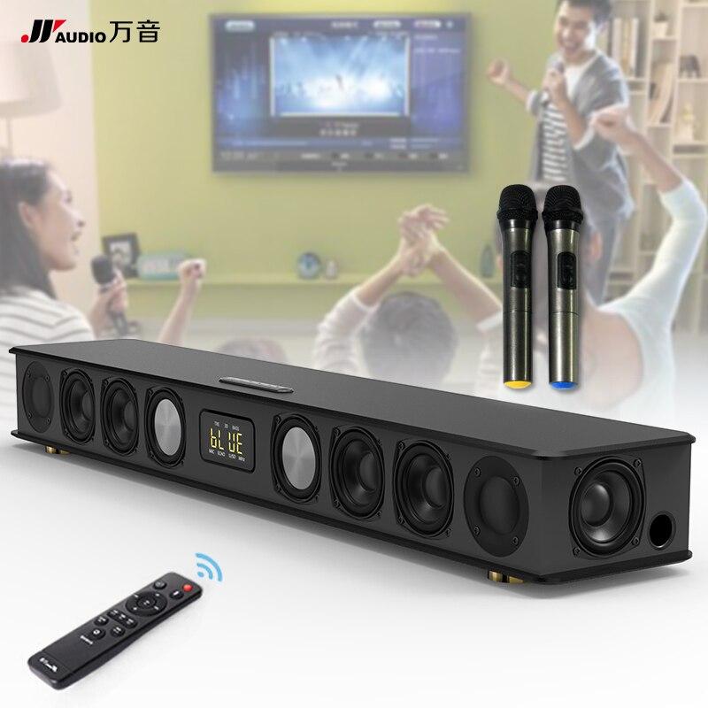 JY AUDIO 300K sans fil famille maison karaoké haut-parleur 3D Surround son système de musique avec Microphones pour TV PC barre de son 5.1