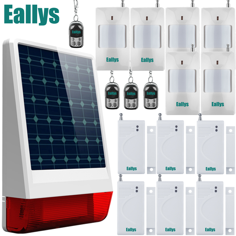 433MHz Wireless Indoor/Outdoor Solar Power Spot Alarm System with Siren/Flash and Internal Antenna better than gsm alarm system etiger s3b etiger gsm sms alarm system solar power siren indoor siren ip camera super kit as same as chuango g5