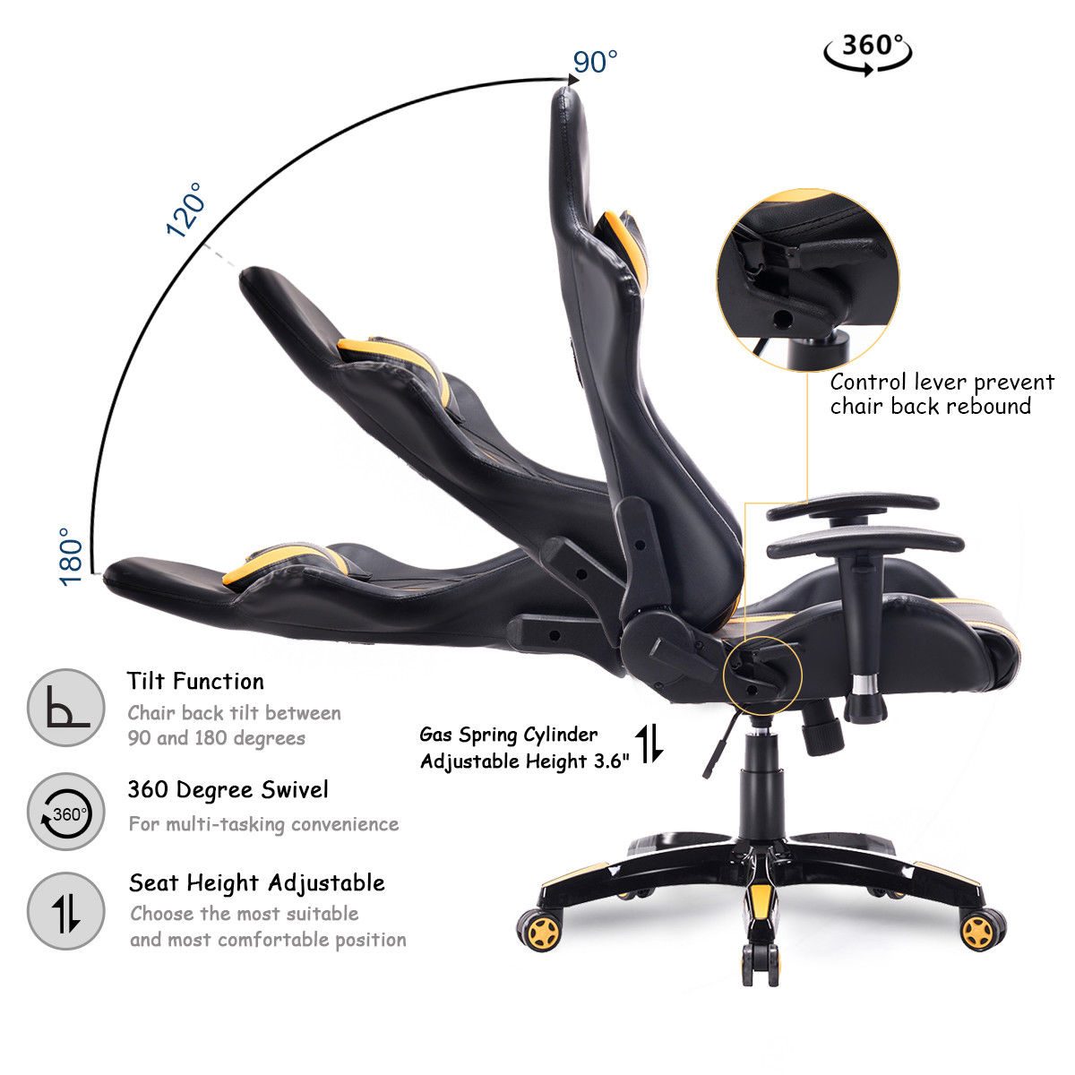 High Back Executive Racing Style Office Chair  3