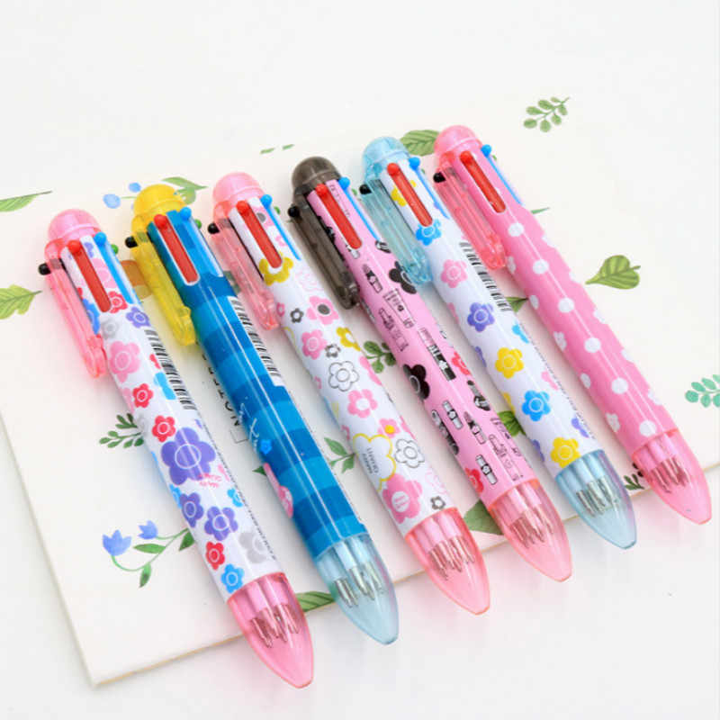 2 шт./компл. мультфильм 6 видов цветов цветок точка шариковые ручки