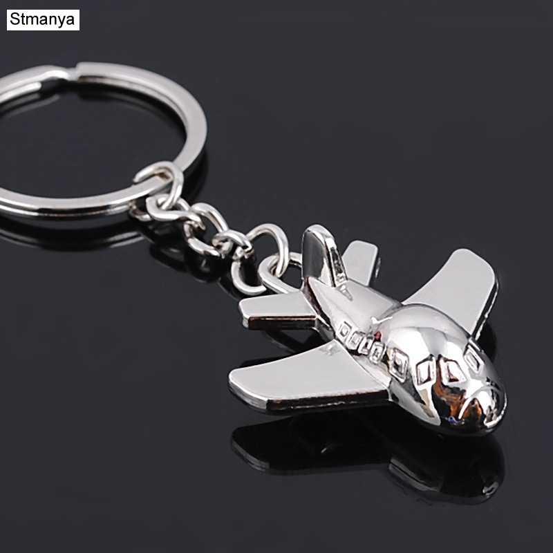Популярный дизайн классический металлический минисамолет металлический брелок для ключей Автомобильный ключ брелок для ключей подарок на Рождество и день влюбленных для мужчин и женщин