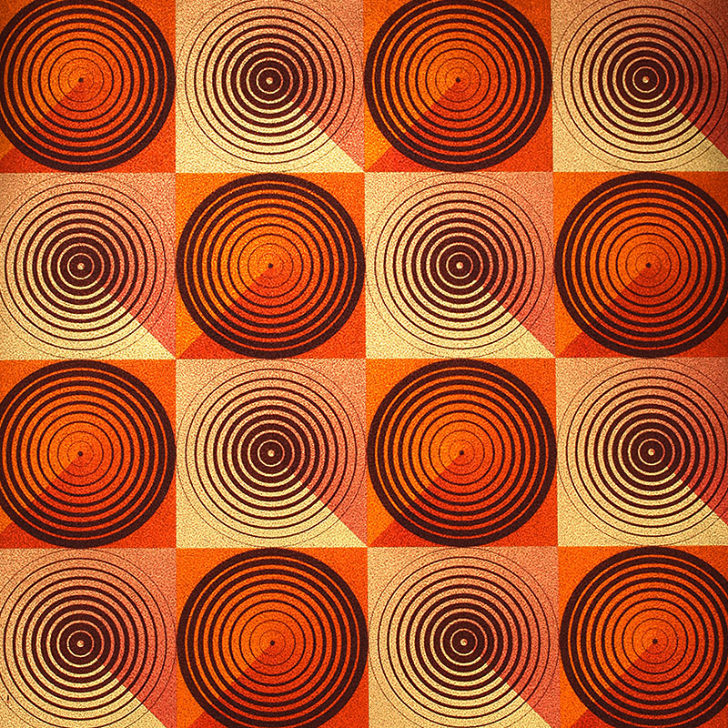 Modern 3D Circle Mosaic Wallpaper Fashion KTV Bar Background Wallpaper PVC Waterproof Wall Paper Roll Orange Wallpaper For Walls modern 3d wallpaper for walls large plaid zipper wall paper roll for tv and sofa background waterproof blue rose red wallpapers