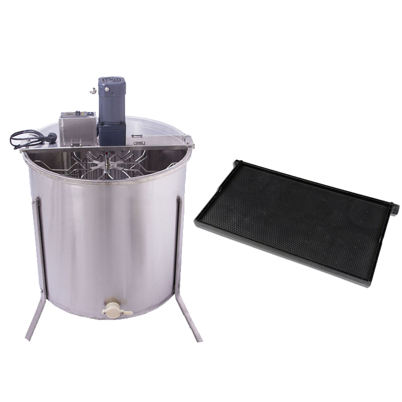 New free shipping one type honey flow hive 20 pcs plastic frames free installation and 6 frames stainless steel honey extractor