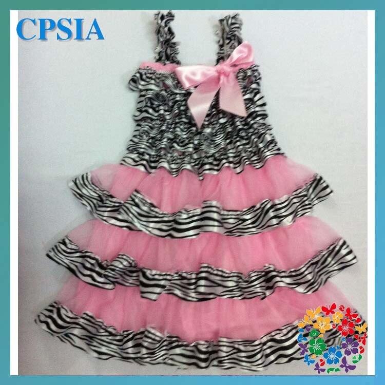 Cebra del bebé vestido rosa niña vestido de fiesta 24 unids en ...